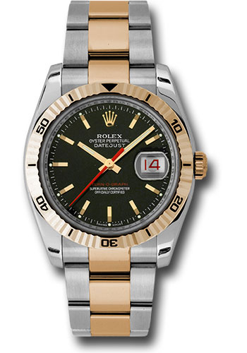 Rolex Watches - Datejust 36mm - Steel and Gold Pink Gold - Turn-O-Graph - Oyster - Style No: 116261 bkso