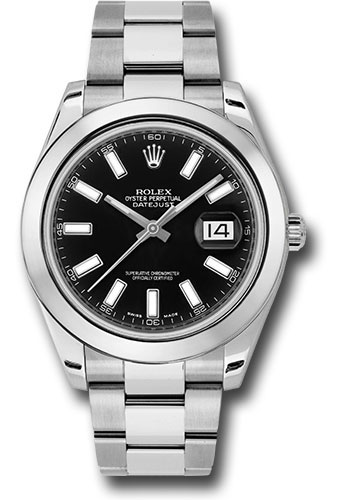 Rolex Watches - Datejust II 41mm Stainless Steel - Smooth Bezel - Oyster - Style No: 116300 bkio