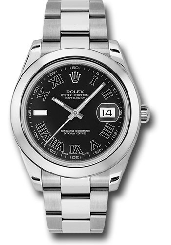 Rolex Watches - Datejust II 41mm Stainless Steel - Smooth Bezel - Oyster - Style No: 116300 bkrio