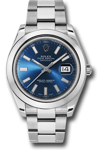 Rolex Watches - Datejust II 41mm Stainless Steel - Smooth Bezel - Oyster - Style No: 116300 blio