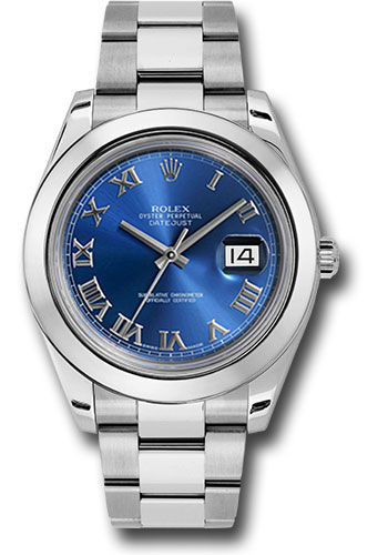 Rolex Watches - Datejust II 41mm Stainless Steel - Smooth Bezel - Oyster - Style No: 116300 blro