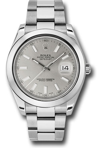 Rolex Watches - Datejust II 41mm Stainless Steel - Smooth Bezel - Oyster - Style No: 116300 sio