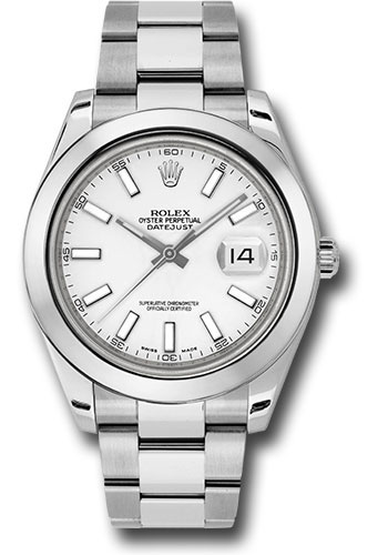 Rolex Watches - Datejust II 41mm Stainless Steel - Smooth Bezel - Oyster - Style No: 116300 wio