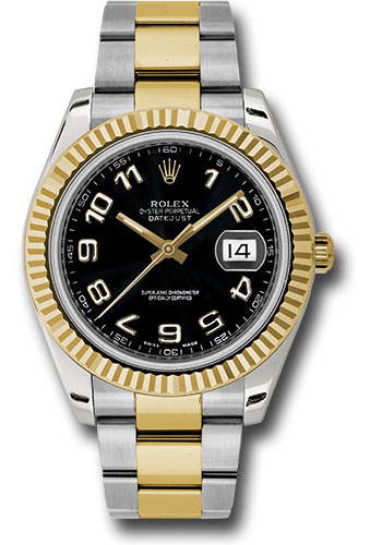 Rolex Watches - Datejust II 41mm - Steel and Gold Yellow Gold - Fluted Bezel - Style No: 116333 bkao