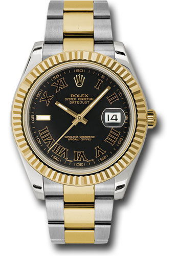 Rolex Watches - Datejust II 41mm - Steel and Gold Yellow Gold - Fluted Bezel - Style No: 116333 bkrio