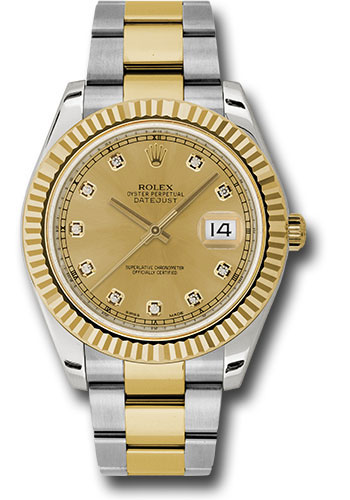 Rolex Watches - Datejust II 41mm - Steel and Gold Yellow Gold - Fluted Bezel - Style No: 116333 chdo