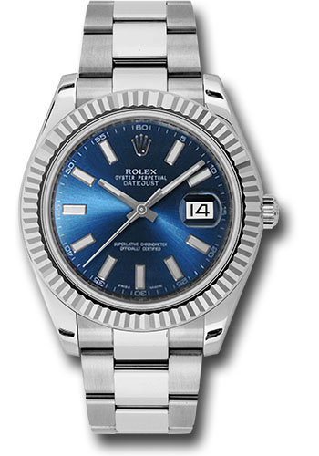 Rolex Watches - Datejust II 41mm - Steel and Gold White Gold - Fluted Bezel - Style No: 116334 blio