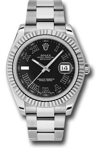 Rolex Watches - Datejust II 41mm - Steel and Gold White Gold - Fluted Bezel - Style No: 116334 bkrio