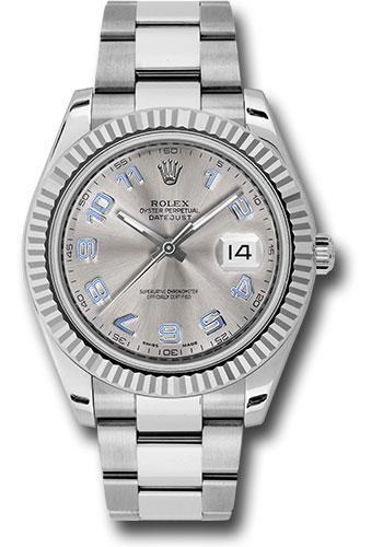 Rolex Watches - Datejust II 41mm Steel and White Gold - Fluted Bezel - Oyster - Style No: 116334 gao