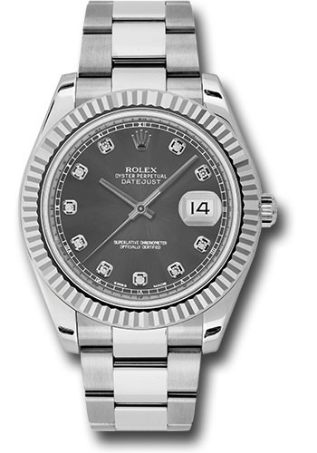 Rolex Watches - Datejust II 41mm - Steel and Gold White Gold - Fluted Bezel - Style No: 116334 rdo