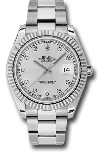 Rolex Watches - Datejust II 41mm - Steel and Gold White Gold - Fluted Bezel - Style No: 116334 sdo