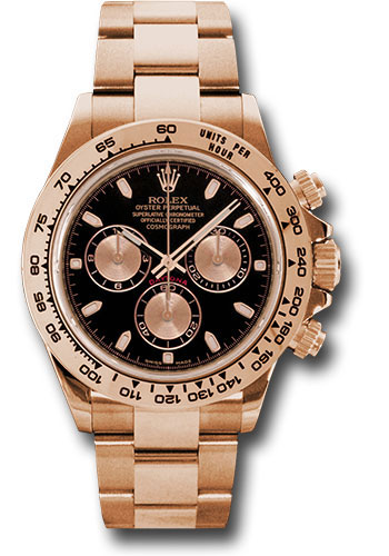 Rolex Everose Gold Cosmograph Daytona 40 Watch , Black Index Dial , 116505  bk
