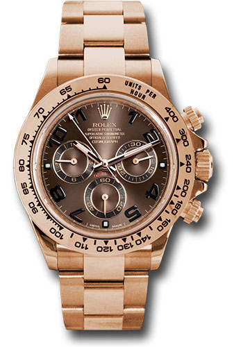 Rolex Watches - Daytona Everose Gold - Bracelet - Style No: 116505 choc