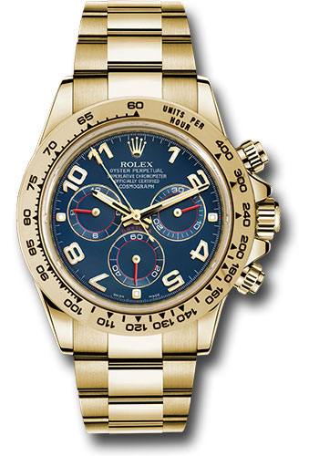 Rolex Watches - Daytona Yellow Gold - Bracelet - Style No: 116508 bla