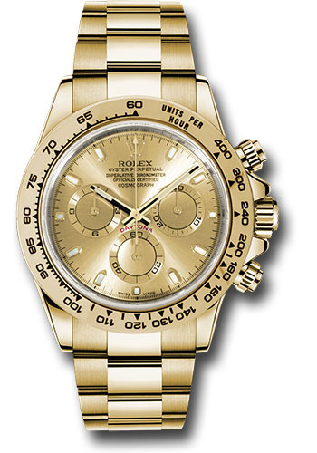 Rolex Watches - Daytona Yellow Gold - Bracelet - Style No: 116508 chi