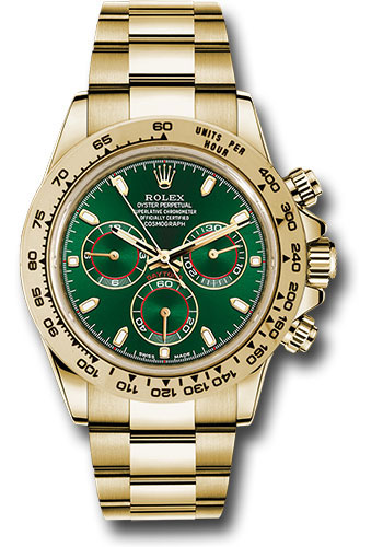 Rolex Watches - Daytona Yellow Gold - Bracelet - Style No: 116508 gri