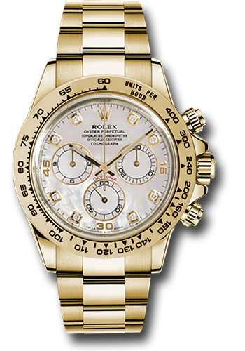 Rolex Watches - Daytona Yellow Gold - Bracelet - Style No: 116508 md