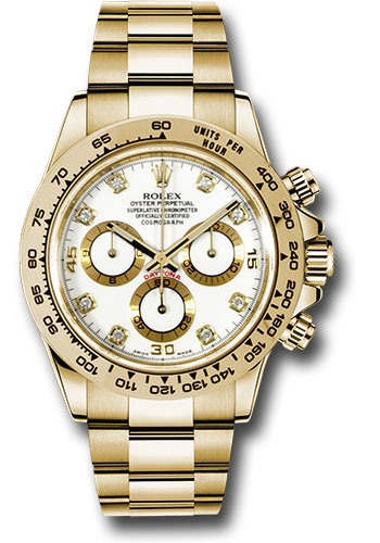 Rolex Watches - Daytona Yellow Gold - Bracelet - Style No: 116508 wd