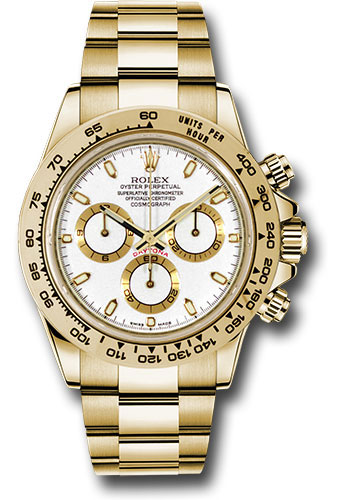 Rolex Watches - Daytona Yellow Gold - Bracelet - Style No: 116508 wi