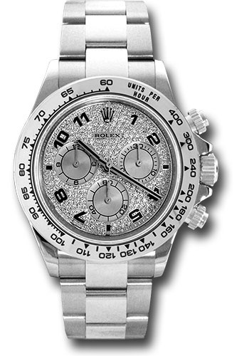 Rolex Watches - Daytona White Gold - Bracelet - Style No: 116509 pave