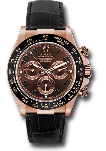 Rolex Watches - Daytona Everose Gold - Leather Strap - Style No: 116515 LNbr