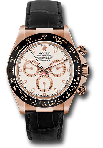 Rolex Watches - Daytona Everose Gold - Leather Strap - Style No: 116515 LNi