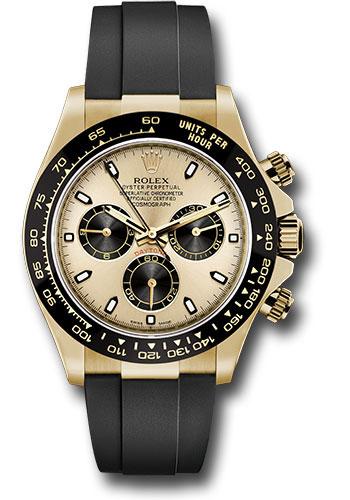 Rolex 116518ln Chbkof Daytona Yellow Gold Oysterflex Strap