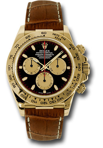 Rolex Watches - Daytona Yellow Gold - Leather Strap - Style No: 116518 pnbks