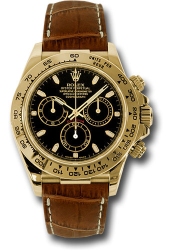 Rolex Watches - Daytona Yellow Gold - Leather Strap - Style No: 116518 bksbr