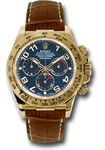 Rolex Watches - Daytona Yellow Gold - Leather Strap - Style No: 116518 blabr