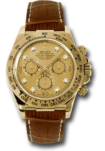 Rolex Watches - Daytona Yellow Gold - Leather Strap - Style No: 116518 chdbr