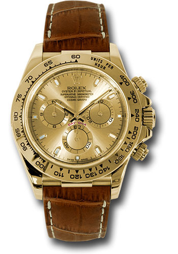 Rolex Watches - Daytona Yellow Gold - Leather Strap - Style No: 116518 chsbr