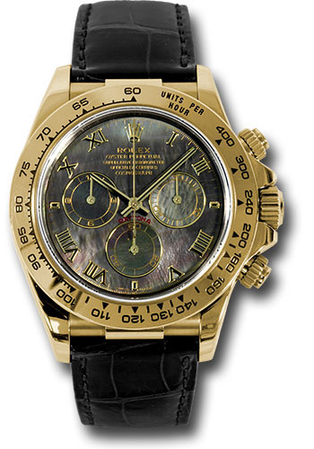 Rolex Watches - Daytona Yellow Gold - Leather Strap - Style No: 116518 dkmbk