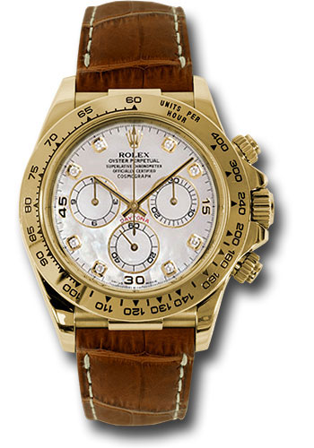 Rolex Watches - Daytona Yellow Gold - Leather Strap - Style No: 116518 md