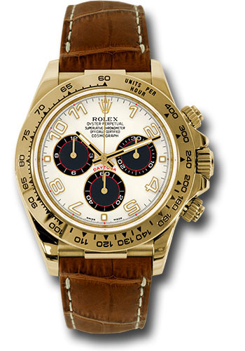 Rolex Watches - Daytona Yellow Gold - Leather Strap - Style No: 116518 ibkbr