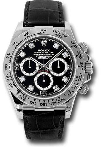 Rolex Watches - Daytona White Gold - Leather Strap - Style No: 116519 bkd
