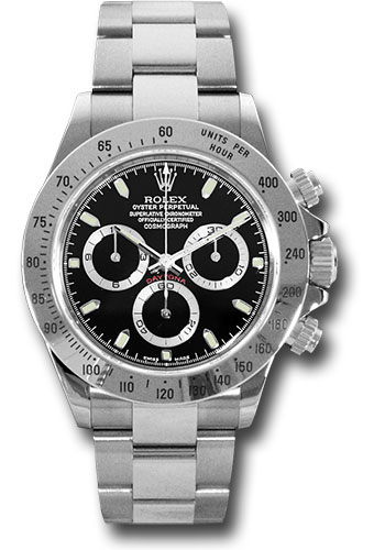 Pre-Owned Rolex Watches - Daytona Steel - Style No: 116520 blk PRE
