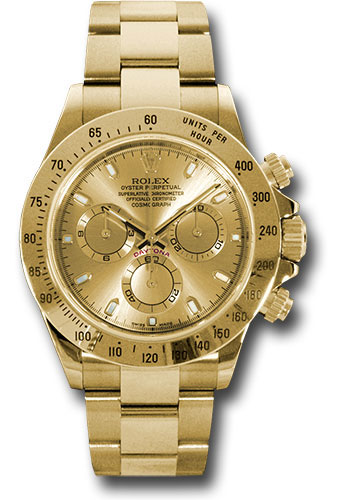 Rolex Watches - Daytona Yellow Gold - Bracelet - Style No: 116528 chs