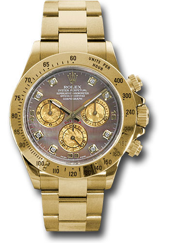 Rolex Watches - Daytona Yellow Gold - Bracelet - Style No: 116528 dkym