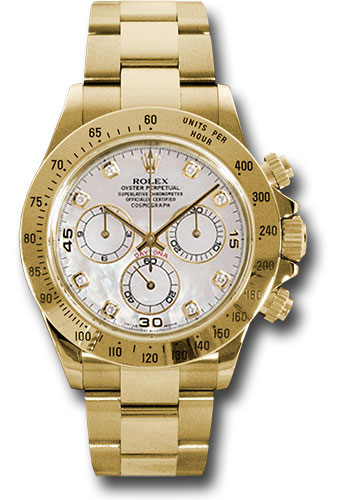 Rolex Watches - Daytona Yellow Gold - Bracelet - Style No: 116528 md