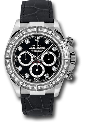 Pre-Owned Rolex Watches - Daytona White Gold - Diamond Bezel - Style No: V116589BRIL