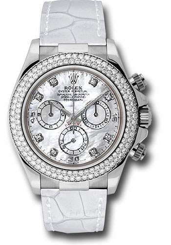 Rolex Watches - Daytona White Gold - Diamond Bezel - Style No: 116589RBR mdw