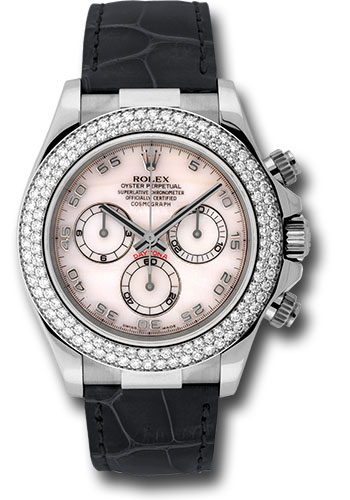 Rolex Watches - Daytona White Gold - Diamond Bezel - Style No: 116589RBR mop