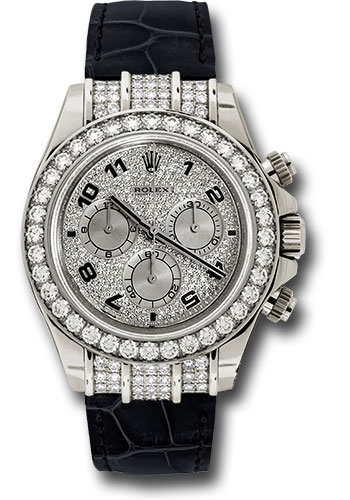 Rolex Watches - Daytona White Gold - Diamond Bezel - Style No: 116599RBR