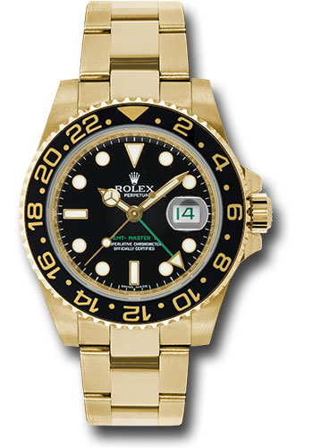 Rolex Watches - GMT-Master II Yellow Gold - Style No: 116718 bk