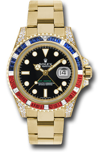Rolex Watches - GMT-Master II Yellow Gold - Style No: 116758SARU
