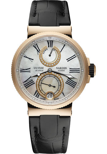 Ulysse Nardin Watches - Marine Chronometer Lady 39mm - Rose Gold - Leather Strap - Style No: 1182-160/490