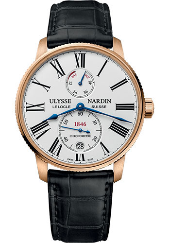Ulysse Nardin Watches - Marine Torpilleur 42mm - Rose Gold - Style No: 1182-310/40