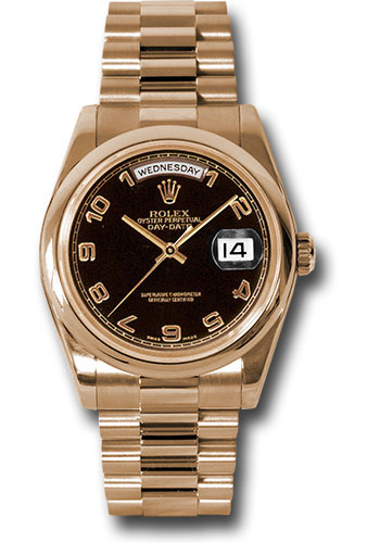 Rolex Watches - Day-Date President Pink Gold - Domed Bezel - President - Style No: 118205 bkap