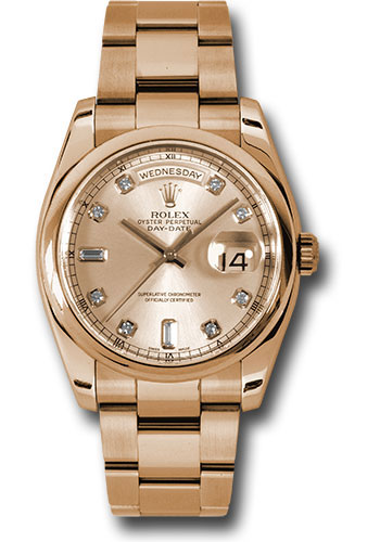 Rolex Watches - Day-Date 36 Pink Gold - Domed Bezel - Oyster - Style No: 118205 chdo